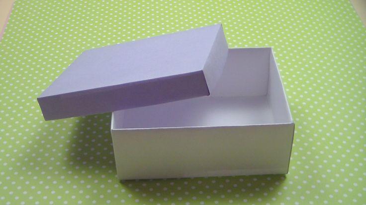Как сделать коробку с крышкой поэтапно