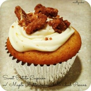 Sweet Potato Cupcake, Maple Buttercream, Candied Pecans