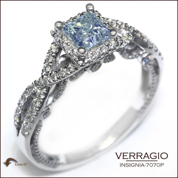 ... Princess Cut Aquamarine center. Verragio Engagement Rings wedding