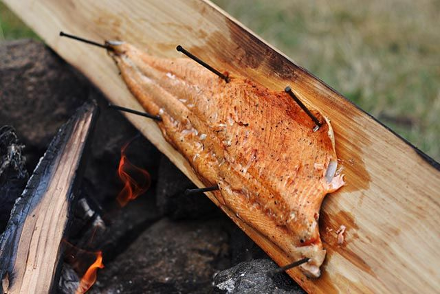 Cedar plank smoked Salmon - YUM From Fisher & Paykel Social Kitchen