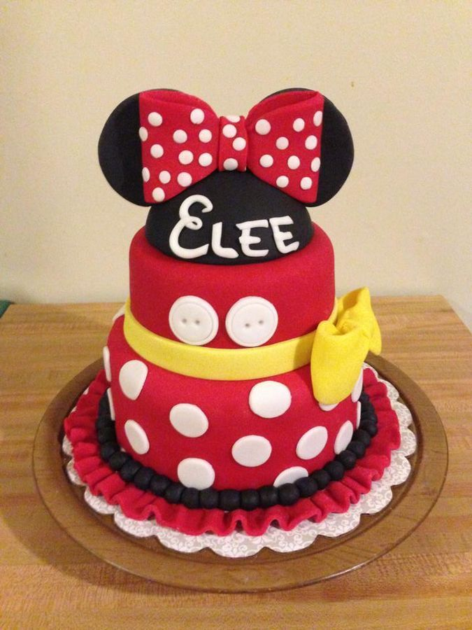 Minnie Mouse birthday cake  clever ideas and recipes  Pinterest