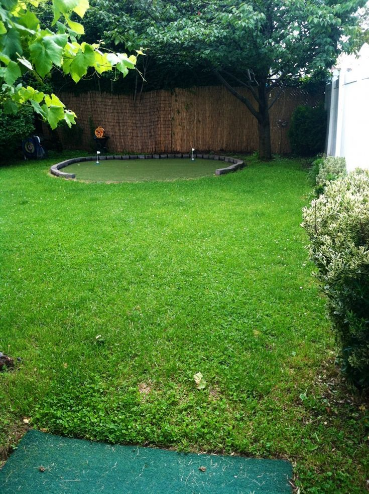 diy backyard golf green my dad 39 s gift to himself for father 39 s day