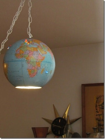 Vintage Globe As A Light Fixture World Globes Map