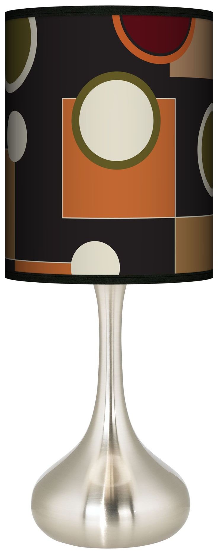 retro medley drum shade 24 1 2 inch h kiss table lamp. Black Bedroom Furniture Sets. Home Design Ideas