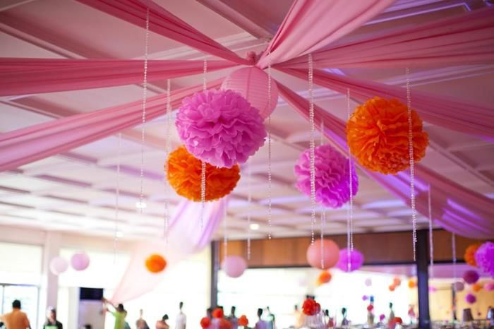 Modern asian themed 1st birthday party with lots of for Asian party decoration ideas