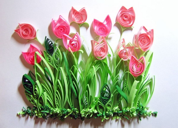 Quilled tulips | The Art Of Quilling | Pinterest