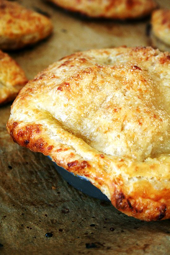 apple-cheddar hand pie with cheddar cheese crust