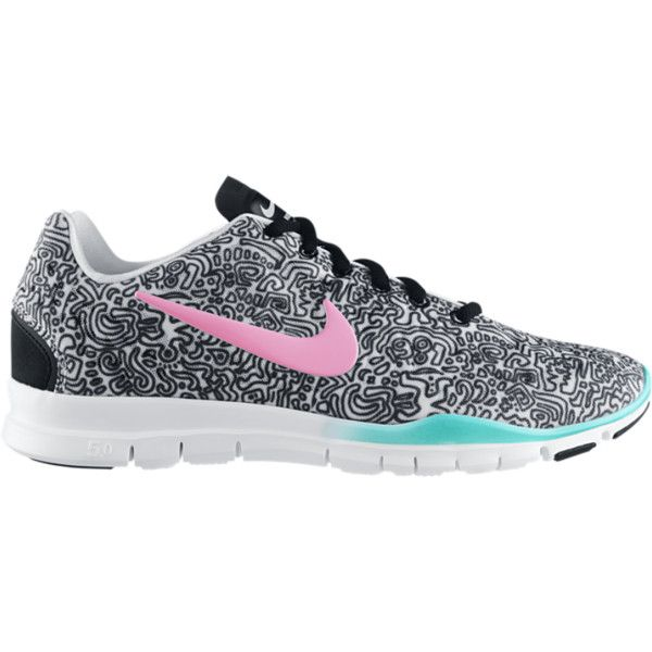 shoes Nike Free TR Fit 3 Print Women s Training Shoes - White, 9 ($100