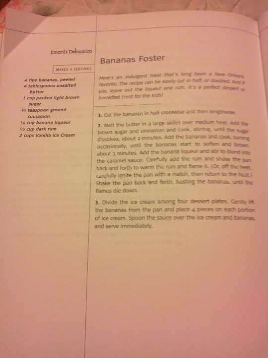 Emeril's Bananas Foster | Recipes - Desserts | Pinterest