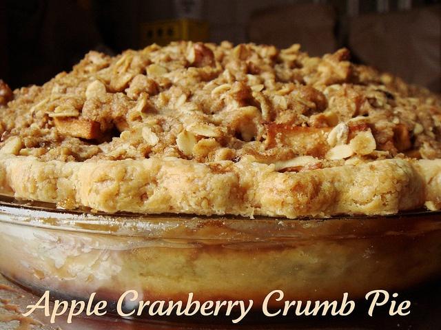 Apple Cranberry Crumb Pie | Yum: Pie! | Pinterest