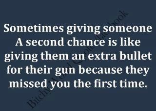 Giving 2nd Chances