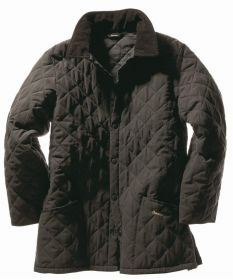 Barbour Eskdale Jacket Classic matte microfibre quilt, lighter and longer to fit over a sports jacket.