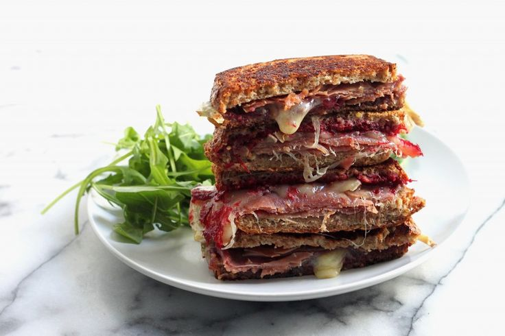 Cranberry, Brie, and Prosciutto Grilled Cheese | Baker by Nature