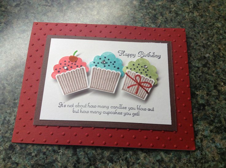 Birthday card stampin up cards ideas pinterest