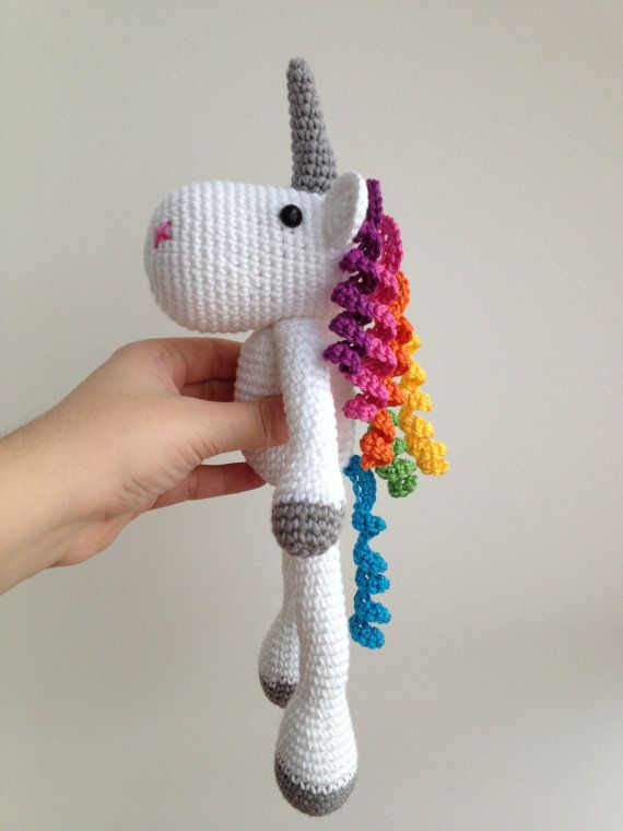 Crochet Unicorn : ... Unicorn Plushie, Unicorn Stuffed Toy, Crochet Unicorn, Unicorn Soft