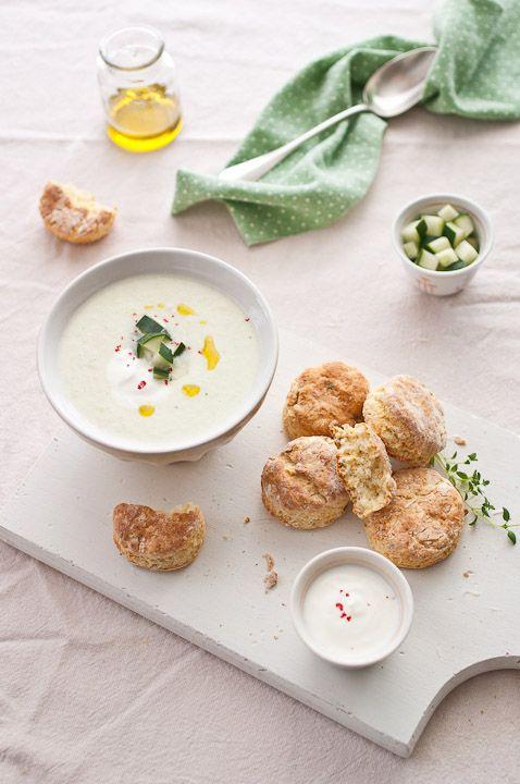 Chilled Cucumber Yogurt Soup - BakeNoir.com