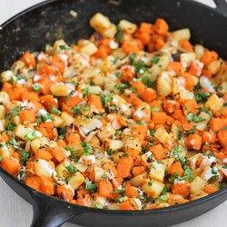 Sweet Potato & Endive Hash with Sriracha Buttermilk Sauce ...
