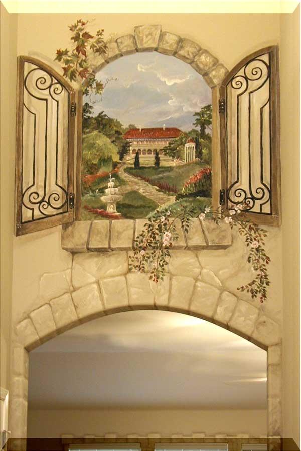 Two Story Foyer Windows : Two story foyer window mural murals pinterest