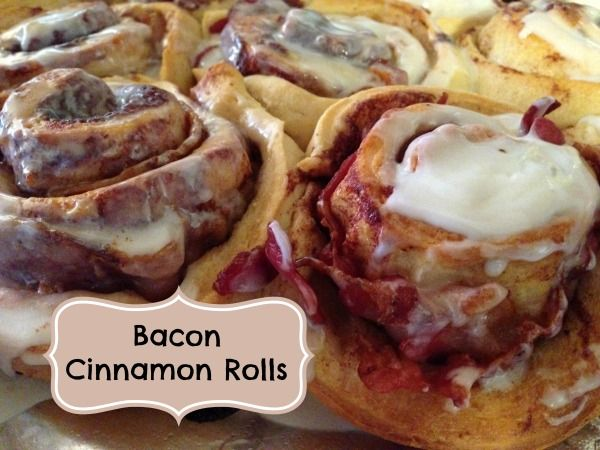 Bacon Cinnamon Rolls - so good. | Food | Pinterest