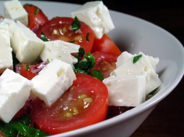 Tomato Feta Salad from Food.com: Adapted from the Barefoot Contessa ...