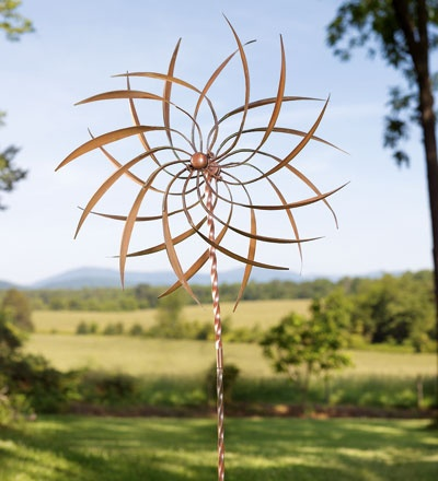 I love spinny things in the yard, and this is a copper beauty.