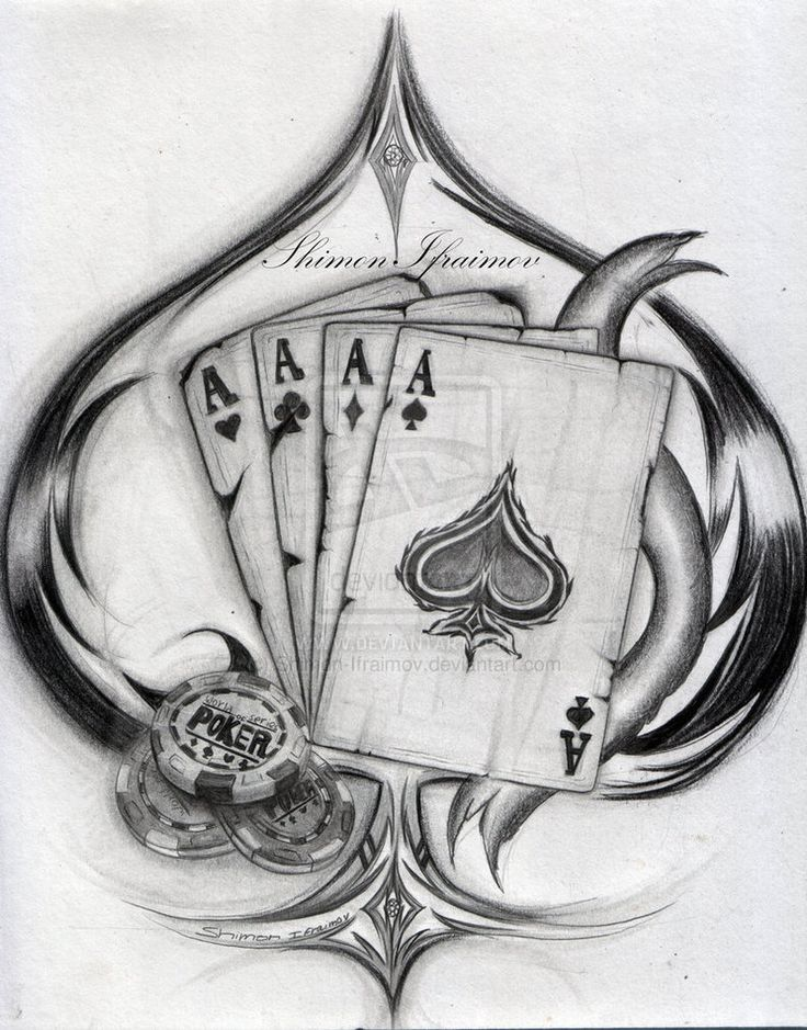 face the ace poker tattoo art