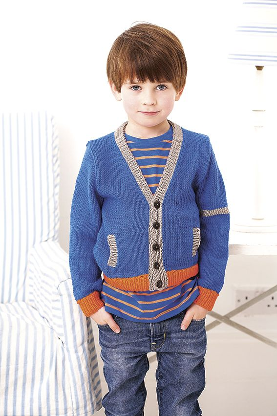 Knitting Pattern Cotton Cardigan : Knitting pattern boys cotton cardigan Knitting Patterns Pinterest