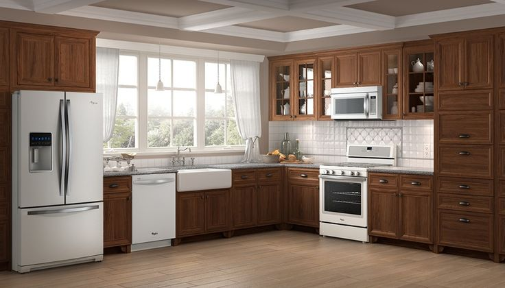 July Kitchen of the Month: White Ice appliances are a breath of fresh air with warm, wooden cabinets. https://www.whirlpool.com/kitchen-stylist
