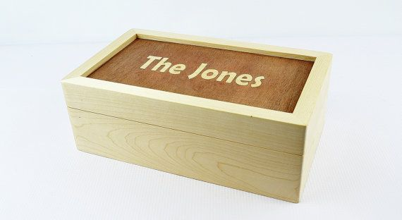 Personalized Wooden Keepsake Box / Wedding Gift / by JVKWOODWORK, USD39 ...