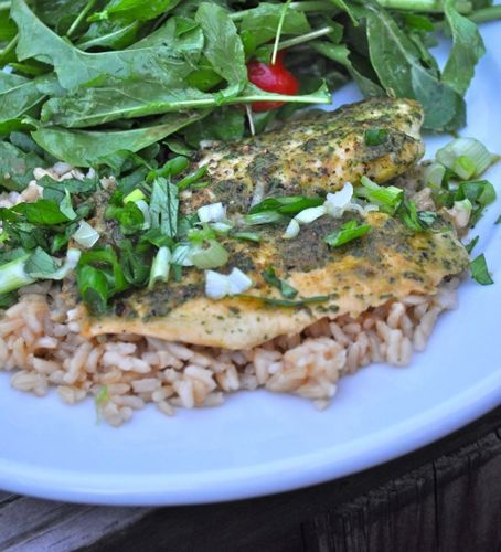 Ginger and Cilantro Baked Tilapia | Recipe