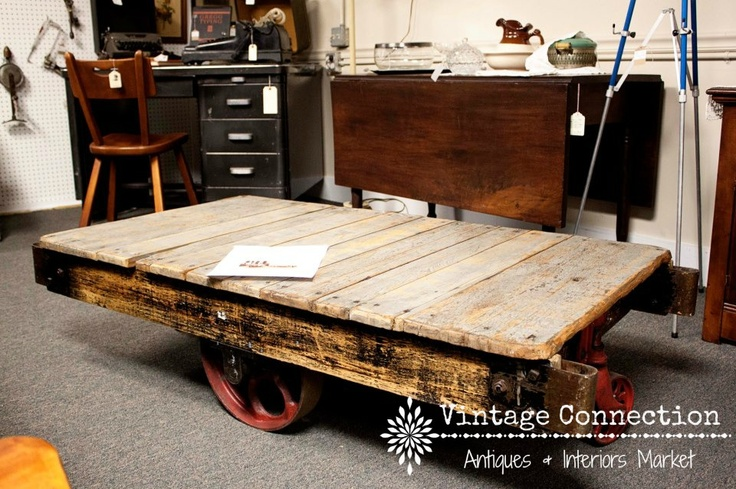 Warehouse Cart Coffee Table Restoration Hardware Sells The Replicas