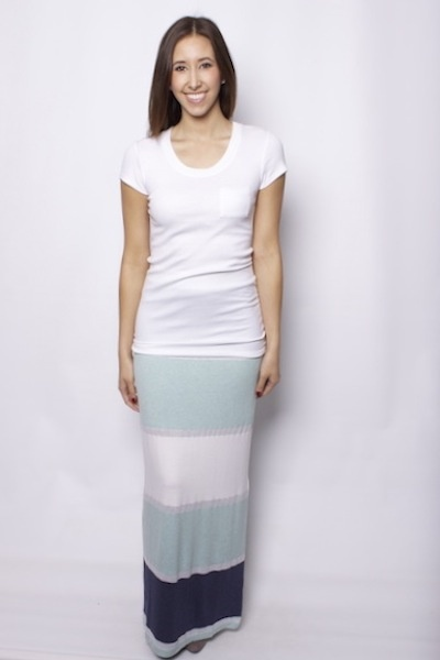 maxi striped skirt and white t shirt maxi dress or skirt