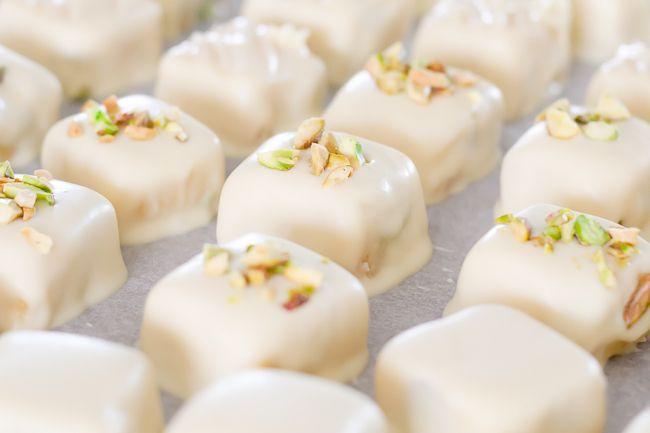 citrus & pistachio marzipan bonbons | Candy Corner | Pinterest