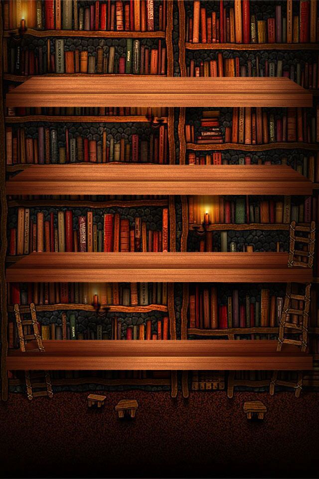 bookshelf wallpaper phone wallpapers pinterest