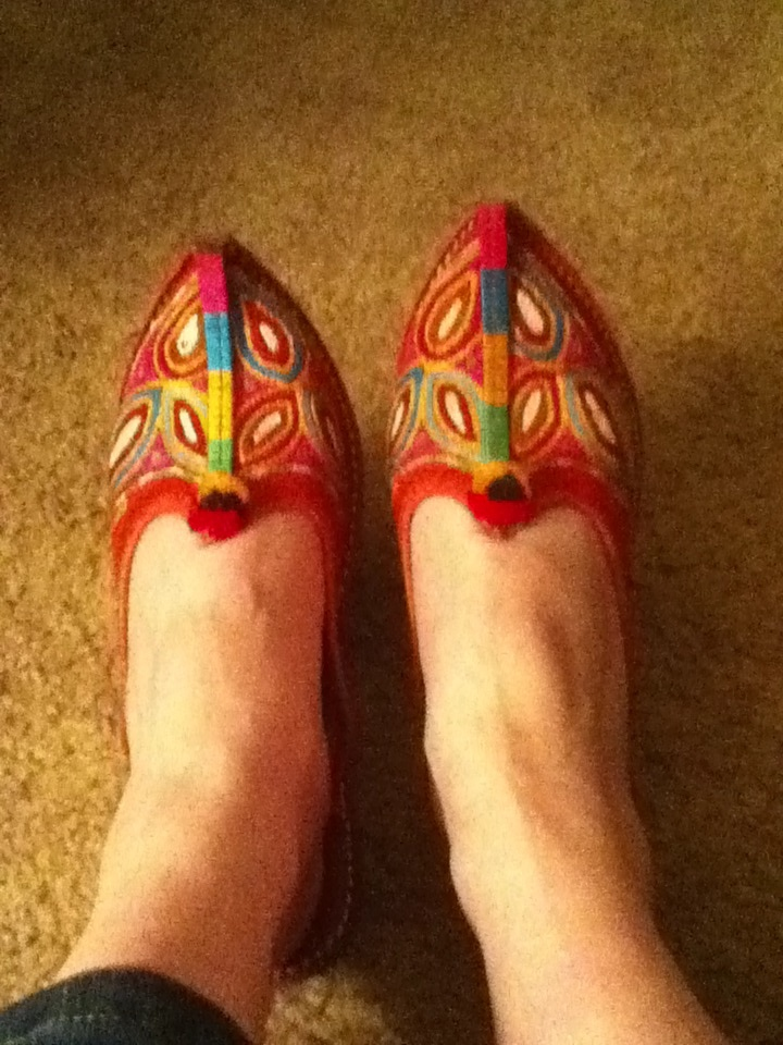 My gorgeous new shoes from India