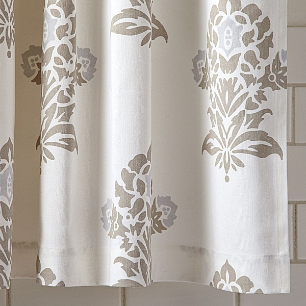 Restoration Hardware Shower Curtain Rod Serena and Lily Fabric