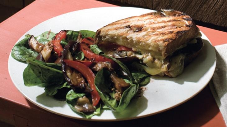 Eggplant Panini With Pesto Recipe — Dishmaps
