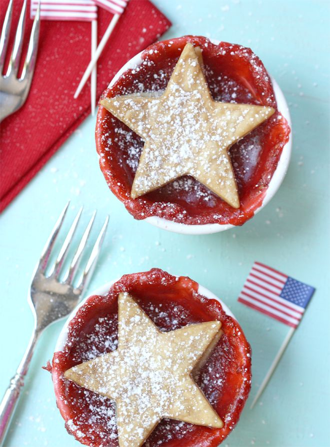 Patriotic Pies, cute little red, white, and blue dessert!