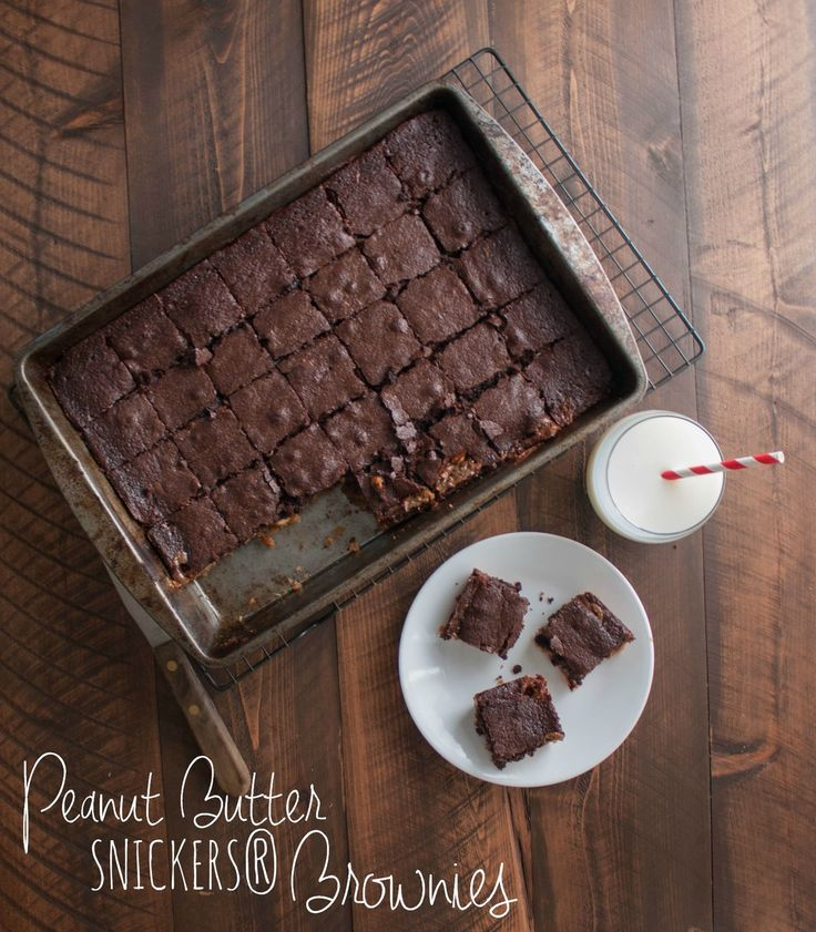 best ever Peanut Butter SNICKERS® Brownies (aka 'husband brownies ...