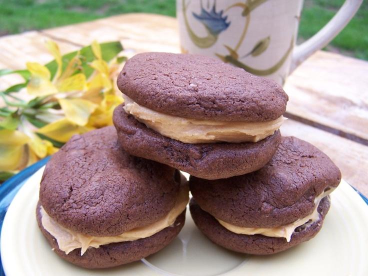 Chocolate Peanut Butter Sandwich Cookies   JenniferCooks.com Fusion ...