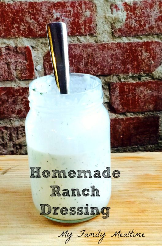 Homemade ranch dressing recipe | Favorite Recipes | Pinterest