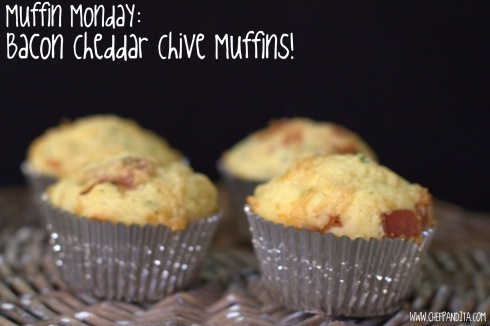 Bacon Cheddar Chive Muffins | Bacon Day | Pinterest