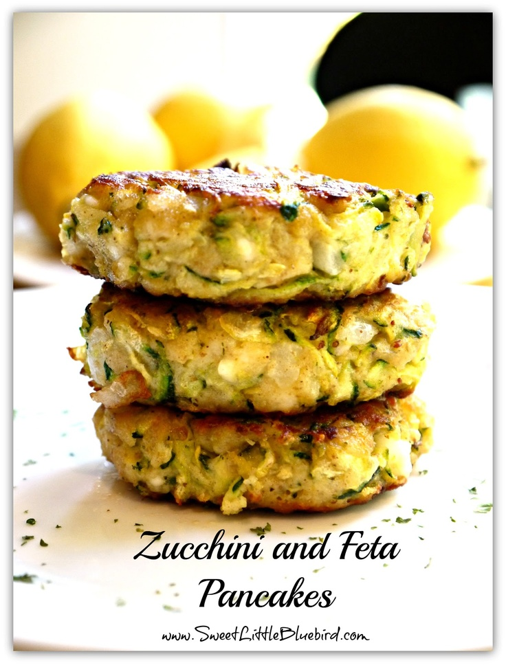 Zucchini and Feta Pancakes! | Cooking Days | Pinterest