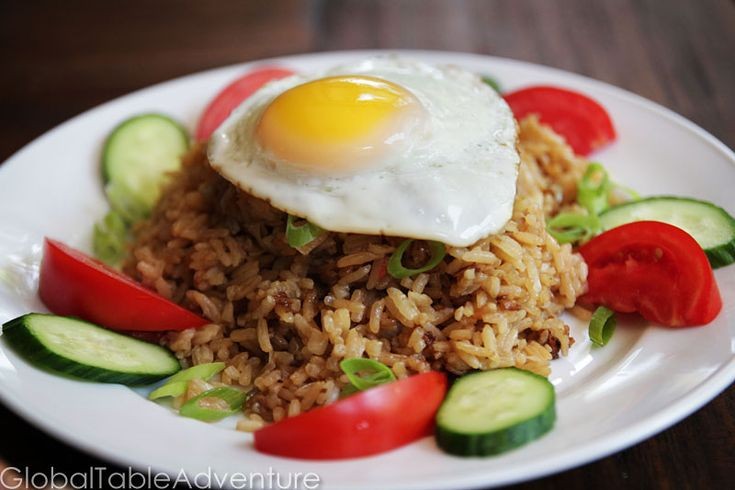 Indonesian Fried Rice with cow's eyes (Nasi Goreng) | Recipe