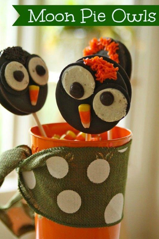 moon pie owls | Halloween/Fall | Pinterest
