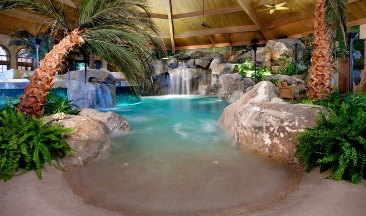 Indoor Pool With Aquarium Home Pinterest