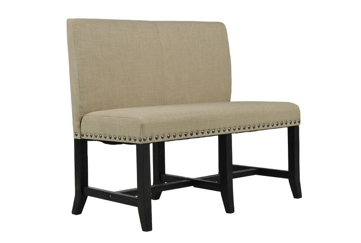 jaxon upholstered high back bench