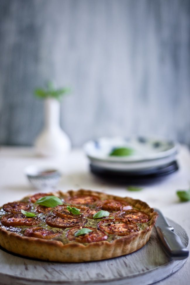 Tomato Tart with Basil and Paneer. | appetizers and small plates | Pi ...