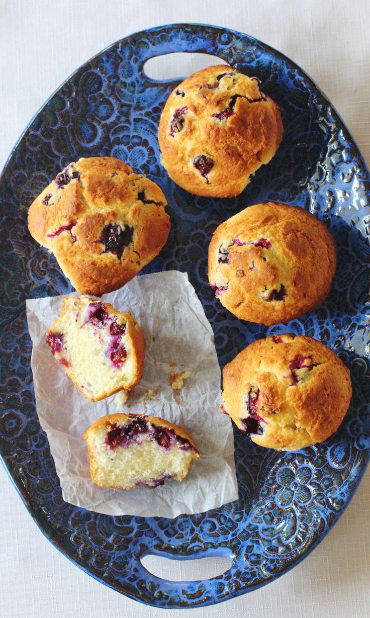 Blueberry Buttermilk Muffins. Buttermilk, cream cheese, butter and ...