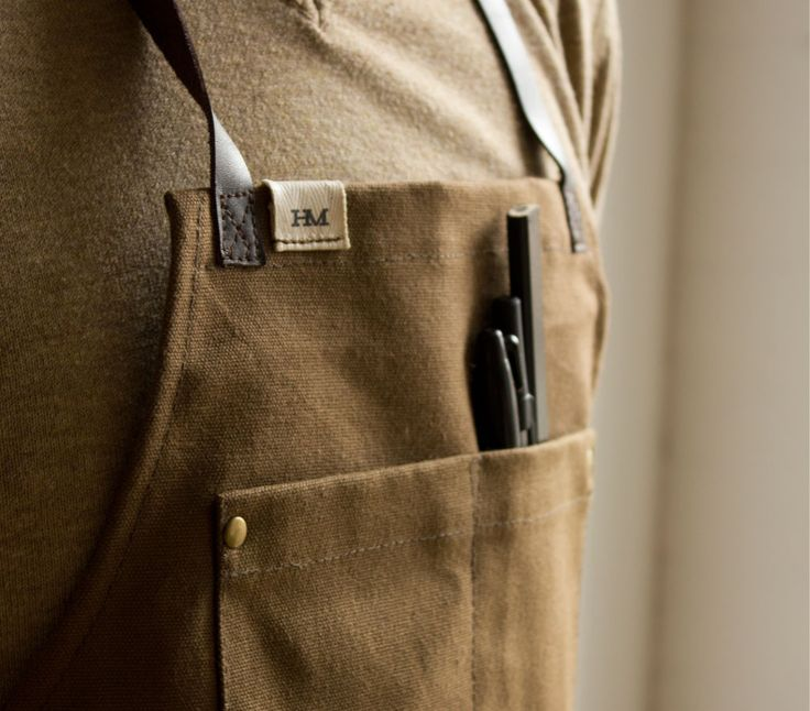 Hudson Made Four Pocket Worker's Apron – Tobacco – Hudson Made New York